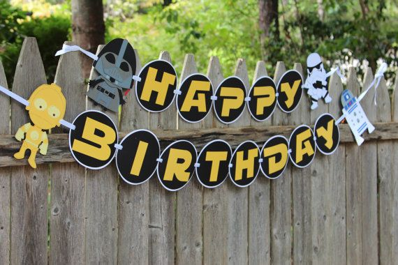 Birthday banner   Hey, I found this really awesome Etsy listing at https://www.etsy.com/listing/247256017/star-wars-birthday-banner