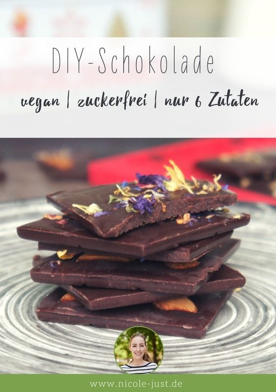 Nicole Just - Vegane Rezepte, DIY und Garten | Vegane Schokolade selber machen – Rezept für Zartbitterschokolade ohne Zucker | http://www.nicole-just.de