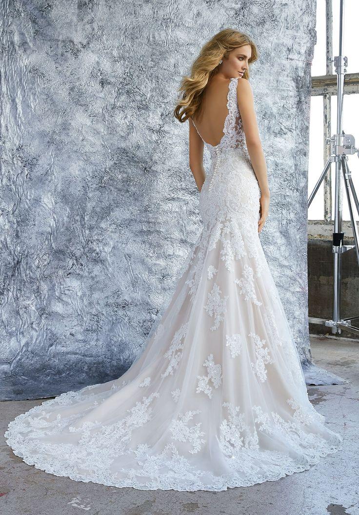 Morilee 8212 Kristina Elegant Lace Fit and Flare Wedding Dress