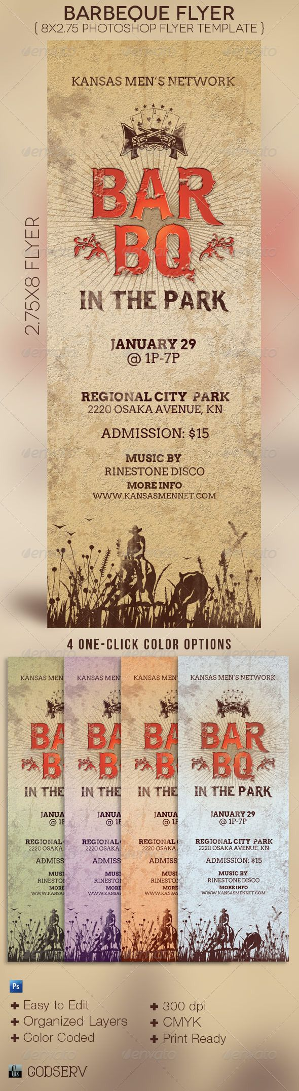 Barbeque flyer template fonts vector background and church for Bbq ticket template free