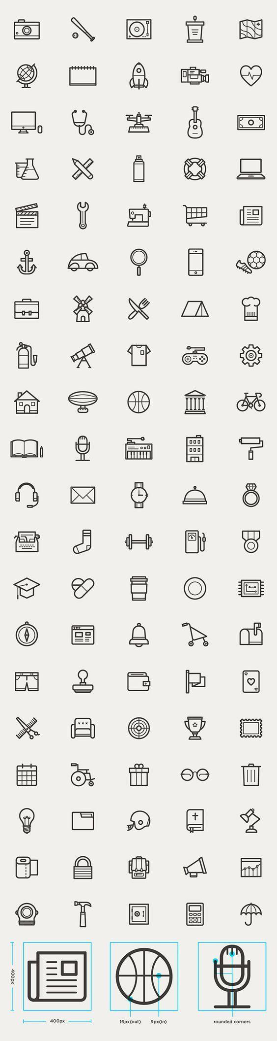 Tiny icon design