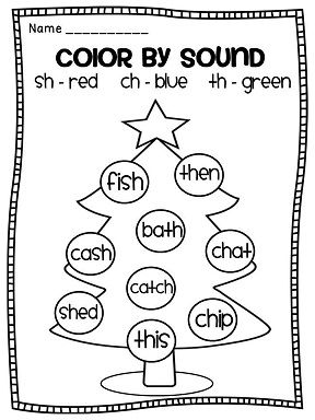 color by sound christmas digraphs practice ela pinterest christmas and colors. Black Bedroom Furniture Sets. Home Design Ideas