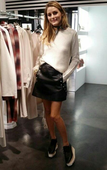 Ivory, leather, sneakers |WEEKEND 2| dress-up casual**mini**turtleneck**sneakers**