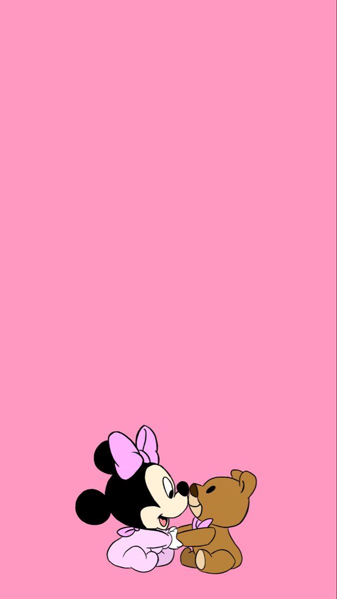 Pink Disney Wallpaper Mini Mouse Disney Wallpaper Disney Characters Wallpaper Cute Cartoon Wallpapers