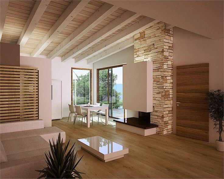 Oltre 25 fantastiche idee su pareti con travi in legno su for Nuove case contemporanee