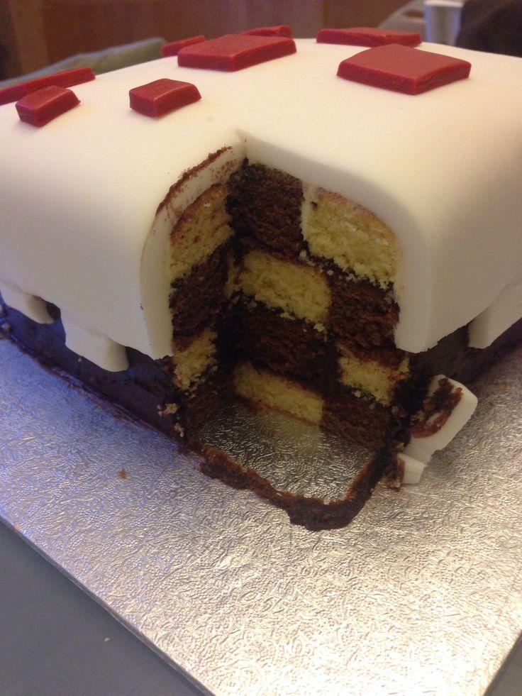Square Chequerboard Checkerboard Cake