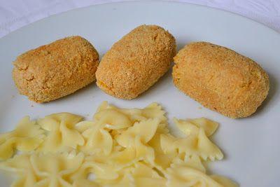 Croquetes de grão-de-bico com caril no forno