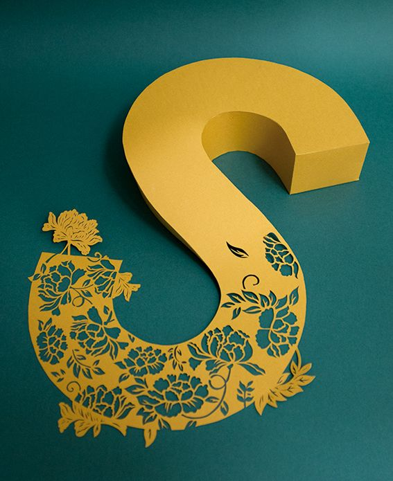 Papercut type on Behance