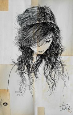 "Saatchi Online Artist Loui Jover; Drawing, ""august"" - wish I could draw a portrait of my daughter like this!"