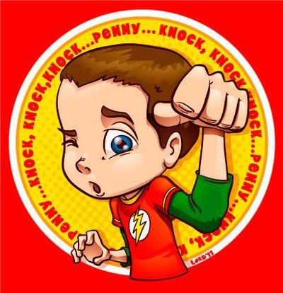 Sheldon and Penny Clip Art