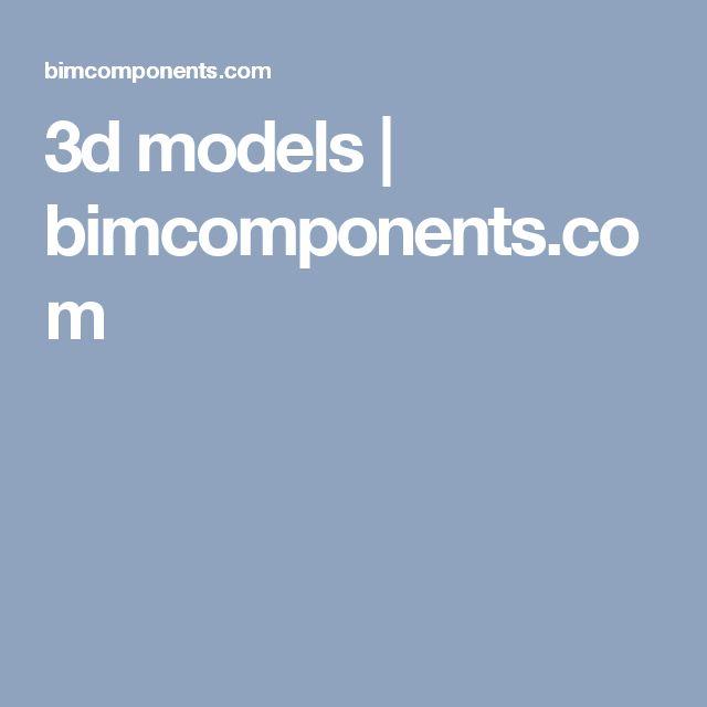 3d models | bimcomponents.com