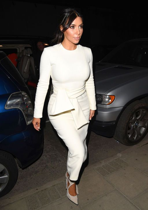 Best 20  Kim kardashian white dress ideas on Pinterest—no signup ...