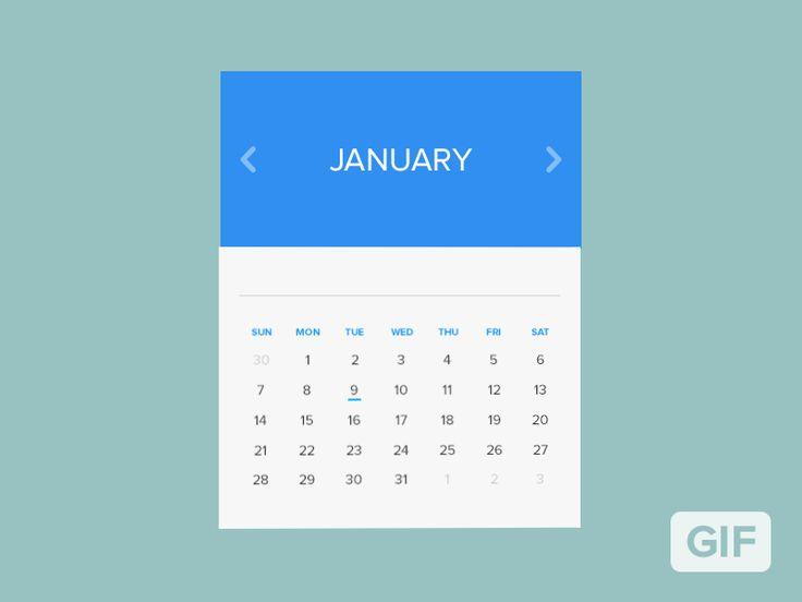 Calendar Window Rebound