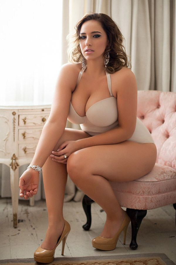 Curves in lingerie