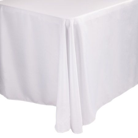 86+x+128+Rectangle+White+Polyester+Linen+Tablecloth  ohh the tablecloths - great source for party supplies too