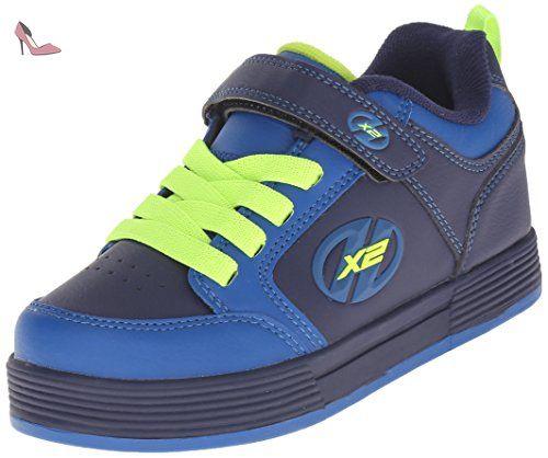 Heelys Propel 2.0, Chaussures de Tennis Garçon, Bleu (Navy/Lime/Confetti), 38 EU