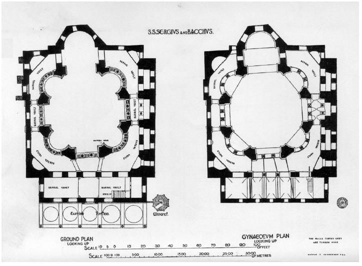 Plan of st sergius and bacchus church 527 536 now for 527 plan