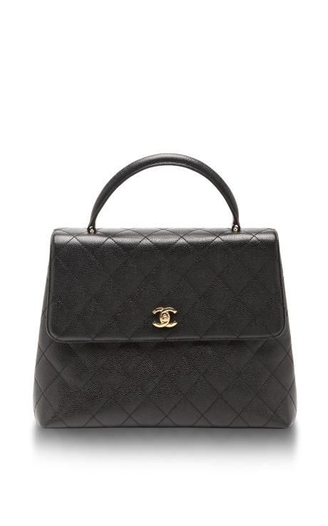 Vintage Chanel Black Caviar Kelly Bag by What Goes Around ...