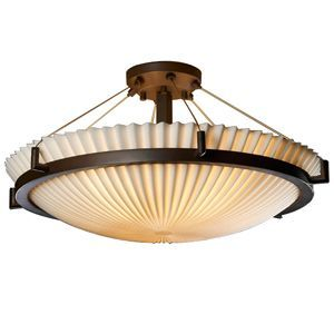 Porcelina Semi-Flush Bowl Suspension by Justice Design Group