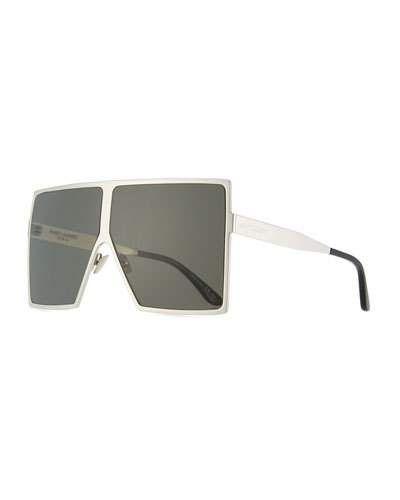 Mohawk Damen Stirn Mode Designer Sonnenbrille Schwarz & grün Spiegel UV400 Y46 8Ly9Jo6i