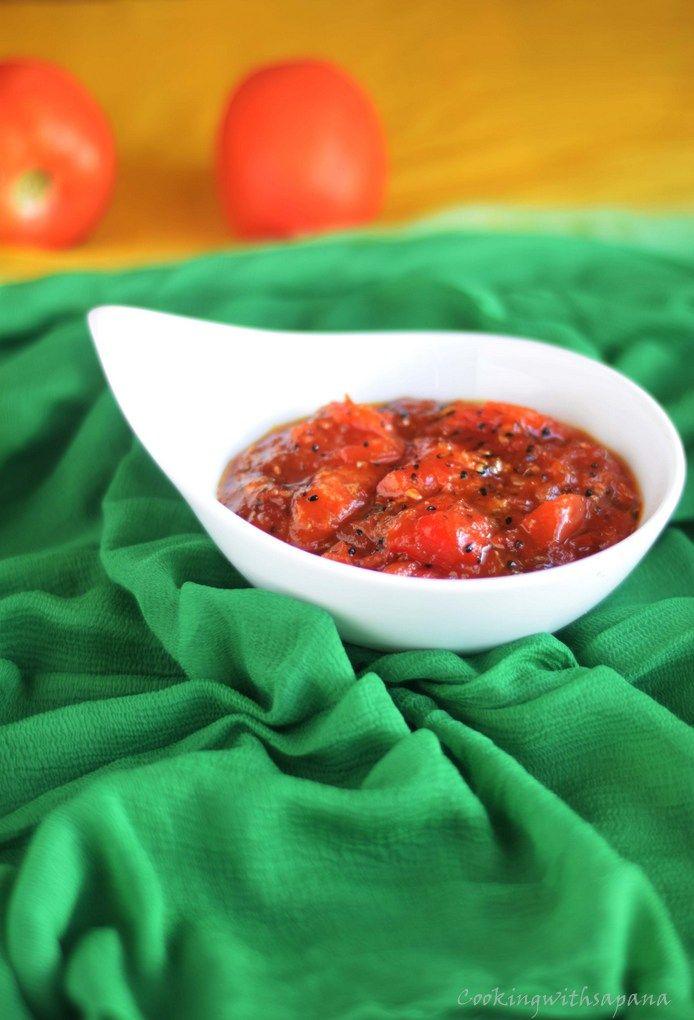 tomato chutney,bengali tomato chutney