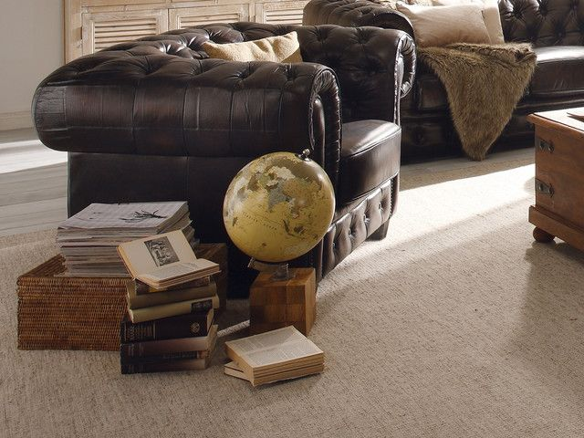 Einfache Dekoration Und Mobel Mammoth Collection #21: Globus Auf Holzfuss Von Massivum.de