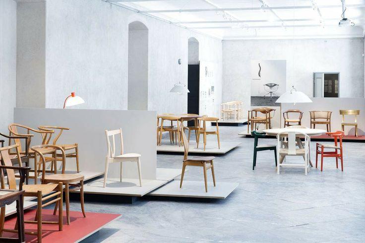 Wegner exhibition @ Design Museum Danmark | Forbo linoleum on floor and podiums. #ForboFlooring #Forbo #Linoleum