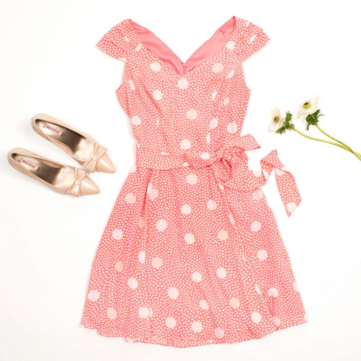 Fanciful Spot Dress | Pink and Cream | Dresses