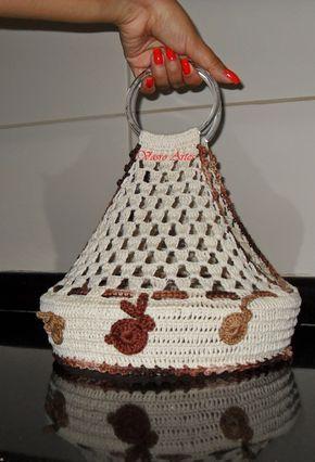 Vasro Artes: Receita do Porta-Pratos de Crochê: Coelhinhos