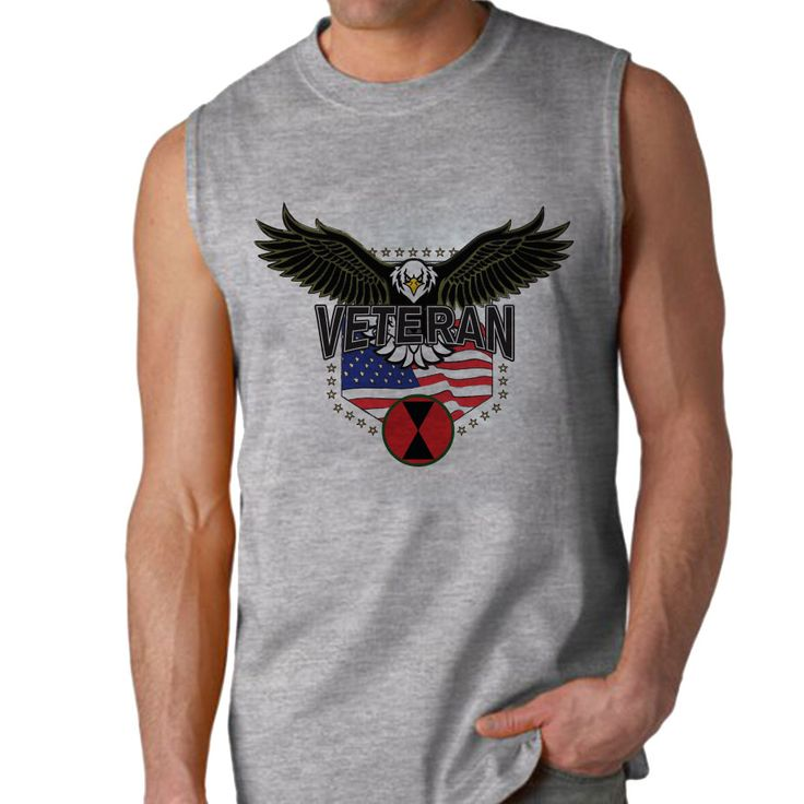The 7th Infantry Division w/Eagle Sleeveless Shirt is a 100% Polyester Gildan sleeveless shirt that will keep you cool and dry all year long. Let your biceps breathe and show your military pride at the same time! Designed & Sublimated in the USA.