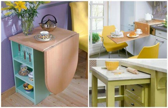 Modele de mese pentru bucatarii mici - cum il alegi pe cel potrivit   30 de IMAGINI