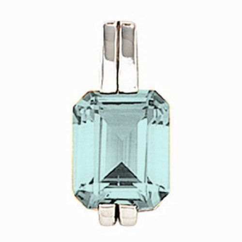 Platinum Emerald Cut Aquamarine Pendant Gems-is-Me. $1736.16. This item will be gift wrapped in a beautiful gift bag. In addition, a 'gift message' can be added.. FREE PRIORITY SHIPPING. Save 40%!