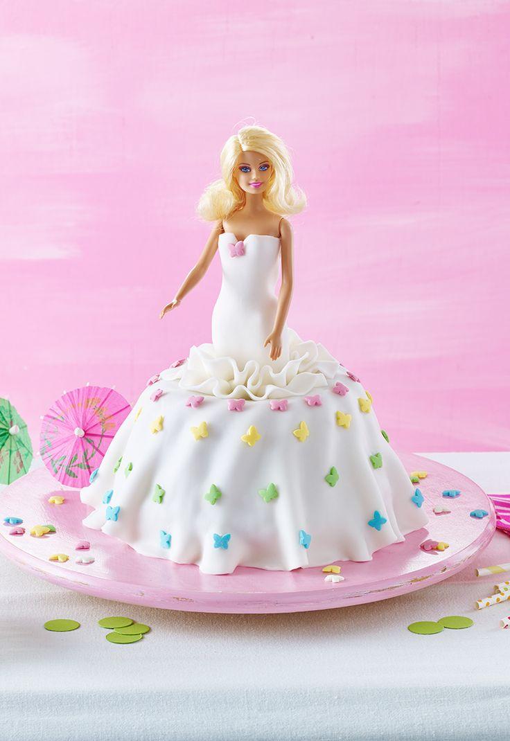 BarbieKuchen  Rezept  Kindergeburtstag  Barbie cake