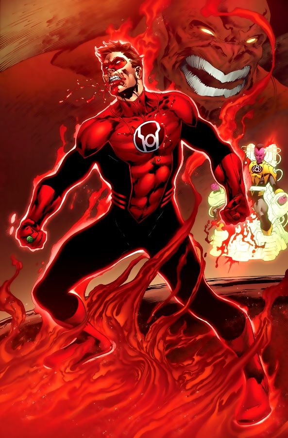 Hal Jordan as Red Lantern