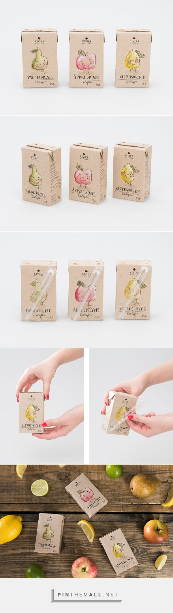 Kiviks Musteri fruit drinks by Josefine Johansson. Source: Behance. Pin curated by #SFields99 #packaging #design