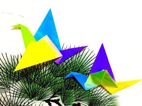 折り紙 羽ばたく鳥     Origami Flapping Bird - YouTube