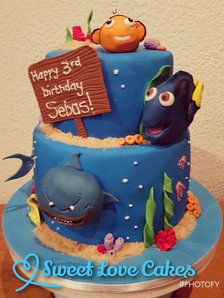 Finding Dory Cake #dory #nemo #birthdaycake