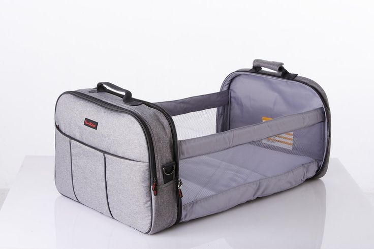 Familidoo - Travel Cot and Nursery Bag all-in-one (LIGHT GREY)