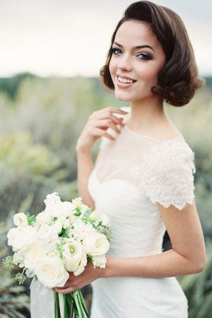 short bridal hair mid length wedding brides of adelaide magazine