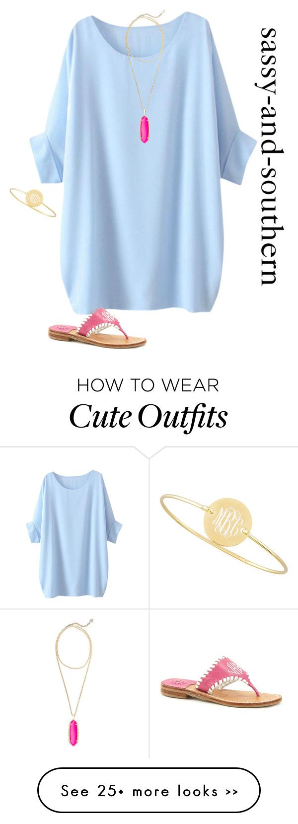 """cute outfit"" by sassy-and-southern on Polyvore featuring Kendra Scott, Jack Rogers and Sarah Chloe"
