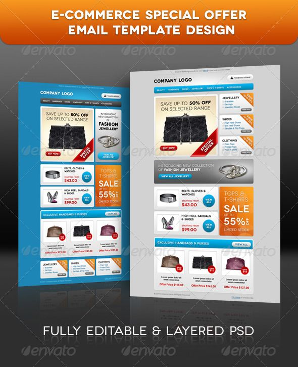 E Commerce Special Offer Email Template Design E Newsletters Web
