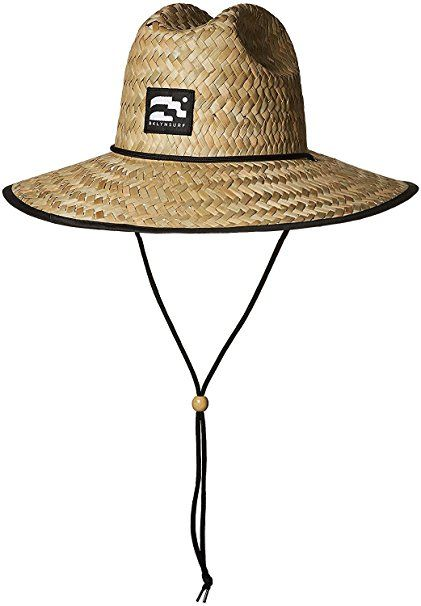 4e477fe4fc1a4 Brooklyn Surf Men s Straw Sun Lifeguard Beach Hat Raffia Wide Brim ...
