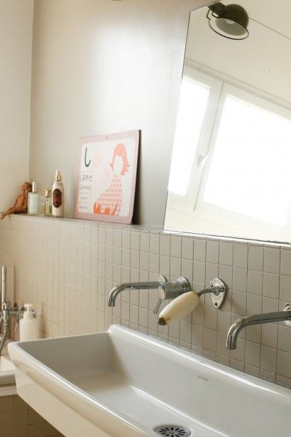 Lavabo pour la salle de bain des enfants.