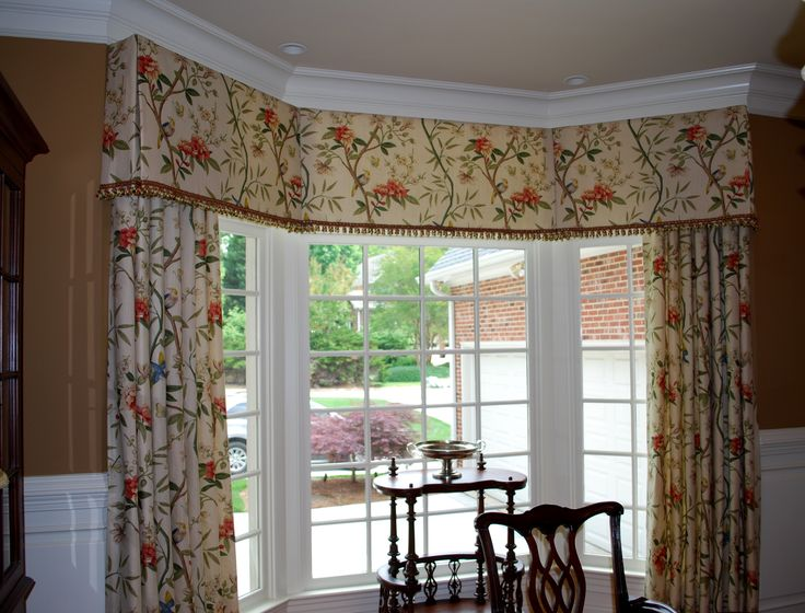 Bow Window Treatment Ideas Part - 41: Very Crisp And Neat - Mounted Under The Crown Molding. Bay Window Valance,  MAMS · Bow WindowsValance IdeasCurtain ...