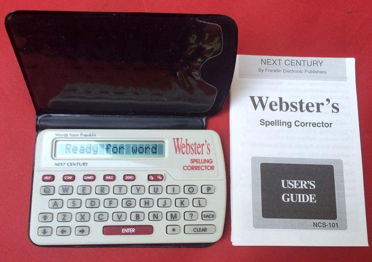 Franklin Electronic Webster's Spelling Corrector NCS-101 Words Next Century #Franklin