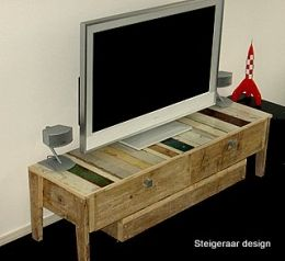 Steigerhouten tv-meubel   tv-meubel Ilici   steigerhout en sloophout   de Steigeraar