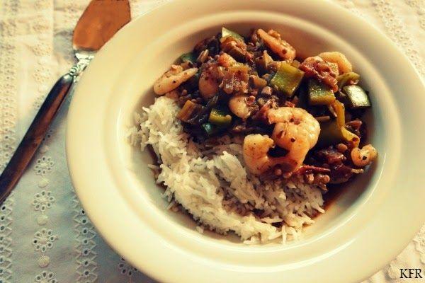 Katrins favoriete recepten: Uit de boekenkast: Gumbo met garnalen en okra