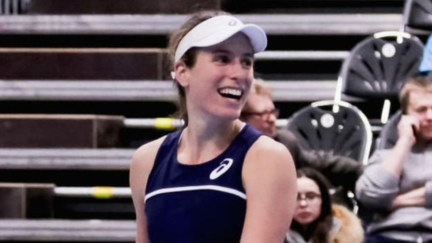 Fed Cup: Watson and Konta lead GB closer to World Group II play-offs  ||  Johanna Konta and Heather Watson lead Great Britain a step closer to the Fed Cup World Group II play-offs with victory over Estonia. http://www.bbc.co.uk/sport/tennis/43007811