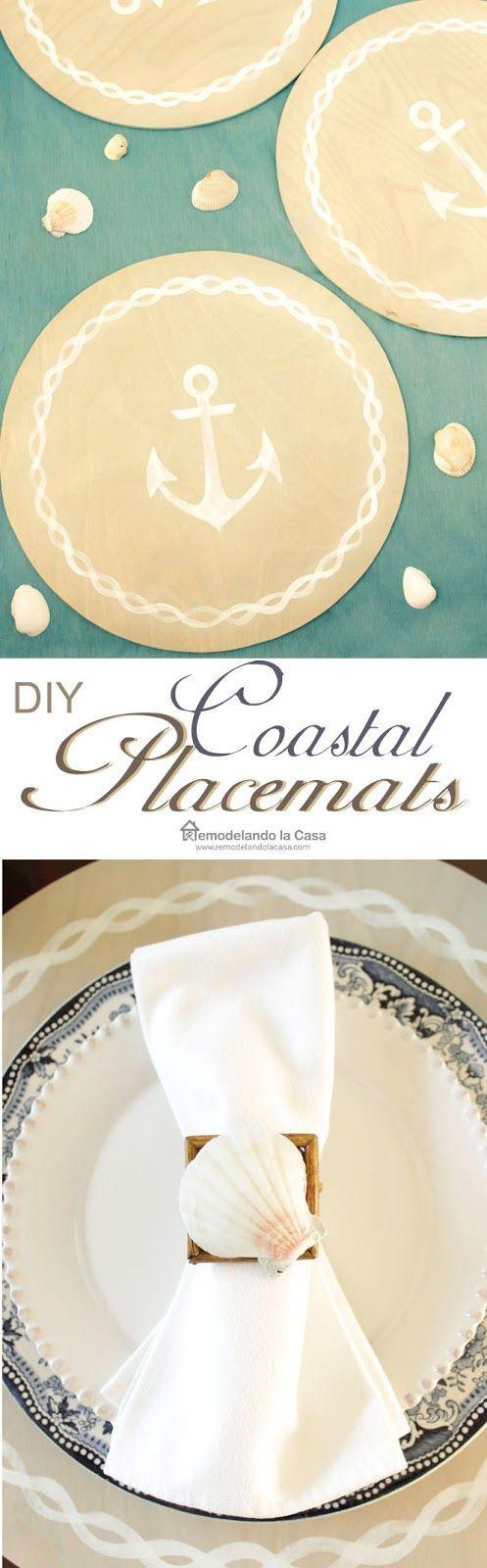 best  nautical placemats ideas on pinterest  rope decor  - diy  coastal placemats