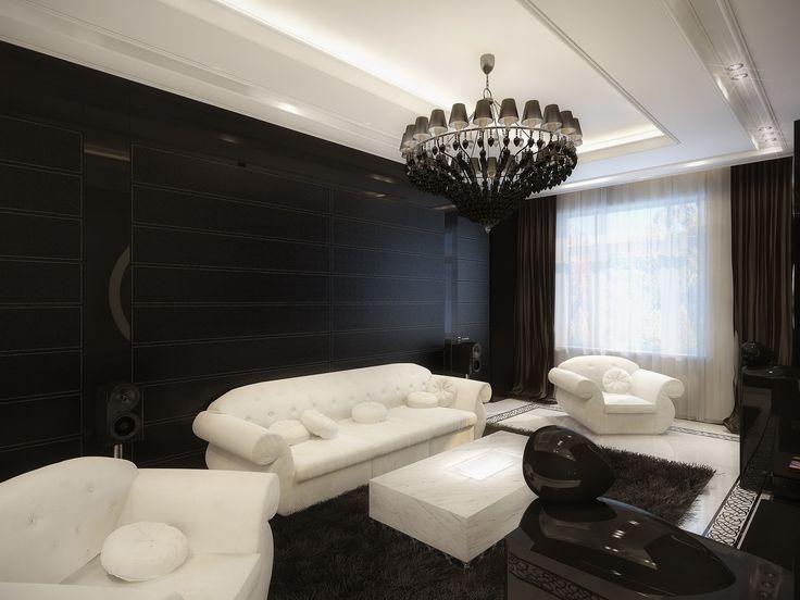 Decoración de interiores de sala estilo retro
